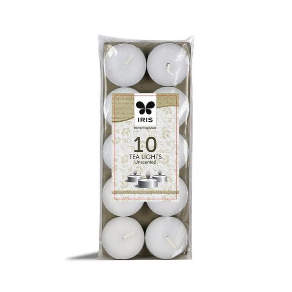 IRIS 10 Tea Lights Unscented