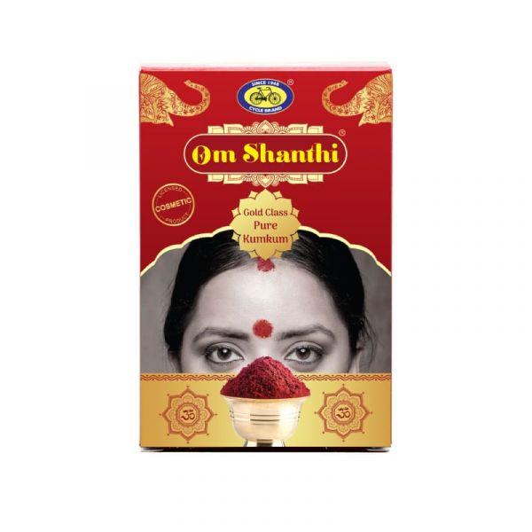 Om Shanthi Gold Class Pure Kumkum (Vermilion)