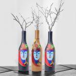 Decorative Wooden Dry Flower Vase Bottle